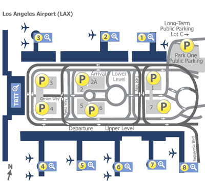 Los Angeles Airport (LAX) Terminal Maps   Map of all terminals at